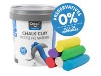Stoepkrijt klei Creall, 6 kleuren, 750 gram