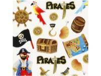 Stickers Piraten no.1 15 x 16,5, per 8 st