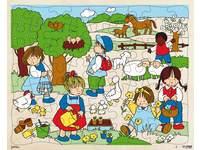Puzzle Serie Jahreszeiten Frühling, 63 Teile