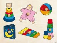 Inlegplank speelgoed, 6 stukjes