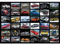 Krasstickers Snelle sportwagens 687 36 motieven, 540 stuks