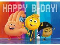 Miniposters Emoji's Happy B-Day! 1040, 2 motieven, 20 stuks
