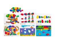 Kiezelstenen in regenboogkleuren, activiteitenset