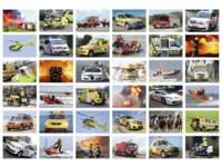 Krasstickers 574 hulpdiensten, 36 motieven, 540 stuks