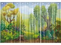 Decordoek bos, 3 panelen 150 x 300 cm