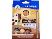 Kleurpotloden Lyra huidtinten, 12 stuks