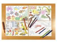 Kleurplaten zelfklevend 300mm x 20 cm, 5 motieven, 5 stuks