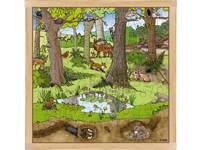 Puzzel bos lente-zomer