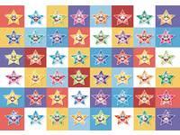 Beloningsstickers Lachende sterren, 48 motieven, 960 stickers