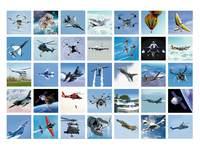 Beloningsstickers De Lucht in 336, 35 motieven, 700 stuks