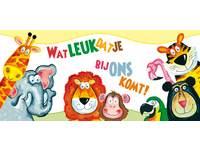 Oproepkaarten vrolijke dieren 5201 2 motieven, 25 stuks