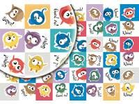 Beloningssticker Crazy Birds 310 48 motieven, 960 stuks