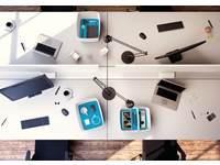 Opbergsysteem Leitz MyBox Medium, 18 liter, wit/blauw