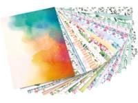 Patroonpapier Aquarel 24 x 34 cm 20 vel, 270 grs.