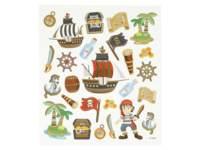 Stickers Piraten no.2 15 x 16,5, per 8 st