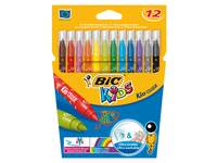 Viltstiften BIC kid couleur assorti, 12 stuks.