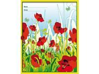 Cahiers brede lijnen 15 mm klaproos FSC formaat 16,5 x 21 cm