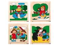 Puzzelserie sprookjes, 2x6 & 2x9 stukjes