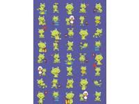 Beloningsstickers Vrolijke Kikkers 348, 40 motieven, 800 stickers