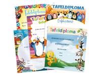 Tafeldiploma's snelbestelpak 2390 5 motieven, 50 stuks