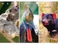 Miniposters Werelddieren Oceanië 1024, 2 motieven, 20 stuks