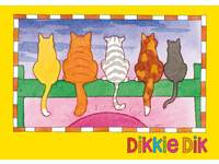 Ansichtkaarten Dikkie Dik 5703 4 motieven, 48 stuks