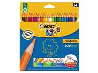 Kleurpotloden BIC Kids ECOlutions Evolution etui met 24 stuks