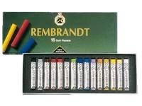 Rembrandt pastels, 15 kleuren ass.