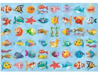 Beloningstickers 414 kleurige vissen, 48 motieven, 960 stuks