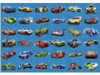 Krasstickers 596 hot wheels, 36 motieven, 540 stuks