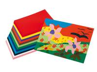 Tekenpapier Maskarade 23x33 cm 12 kleuren ass. 480 vel, 120 grs.