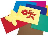 Tekenpapier dixtint 24,5 x 33,5 cm 10 kleuren 200 vel, 120 grs.