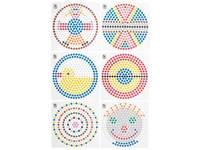 Kralenplank voorbeeldkaarten, ronde patronen
