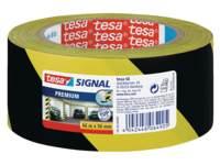 Waarschuwingstape tesa zwart/geel 66 meter x 60 mm