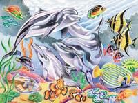 Kleuren op nummer 40 x 30 cm zeewereld