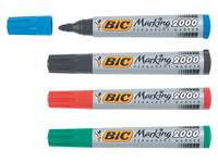 Bic permanent marker rond 1,7 mm rood per dozijn