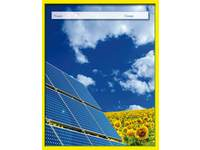 Cahiers 24 lijnen zonne-energie geel FSC formaat 16,5x21 cm, 80 grs