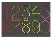 Veterborden zwart rechthoekig (set van 4 stuks, 4 pennen en 20 veters)