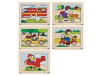 Puzzelserie transport 2, 12 stukjes per puzzel