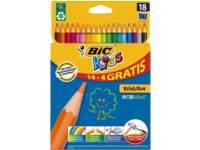 Kleurpotloden BIC Kids Evolution assorti, 18 stuks