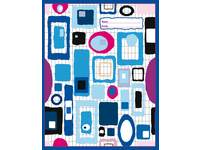 Cahiers 3000 serie comm. 4x7 mm, blauw FSC formaat 16,5x21 cm, 80 grs