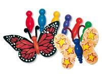 Vlinderlijfjes kunststof 2 x 5 cm 75 stuks assorti kleuren
