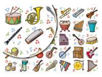Beloningsstickers Muziekinstrum. 339, 35 motieven, 700 stuks