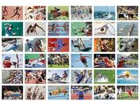 Beloningsstickers Olympische Sporten 365, 36 motieven, 720 stuks