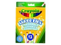 Viltstiften Crayola met superpunt, 12 stuks