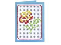Borduurkarton 17,5 x 24,5 cm 10 kleuren, 40 vel