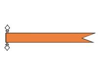 Talamex vlaggen Nederland: Wimpel Oranje