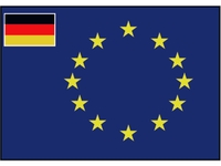 European flag (with small German flag)