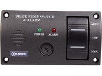 Bilge pump control panels