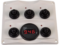 Switchpanel with voltmeter
